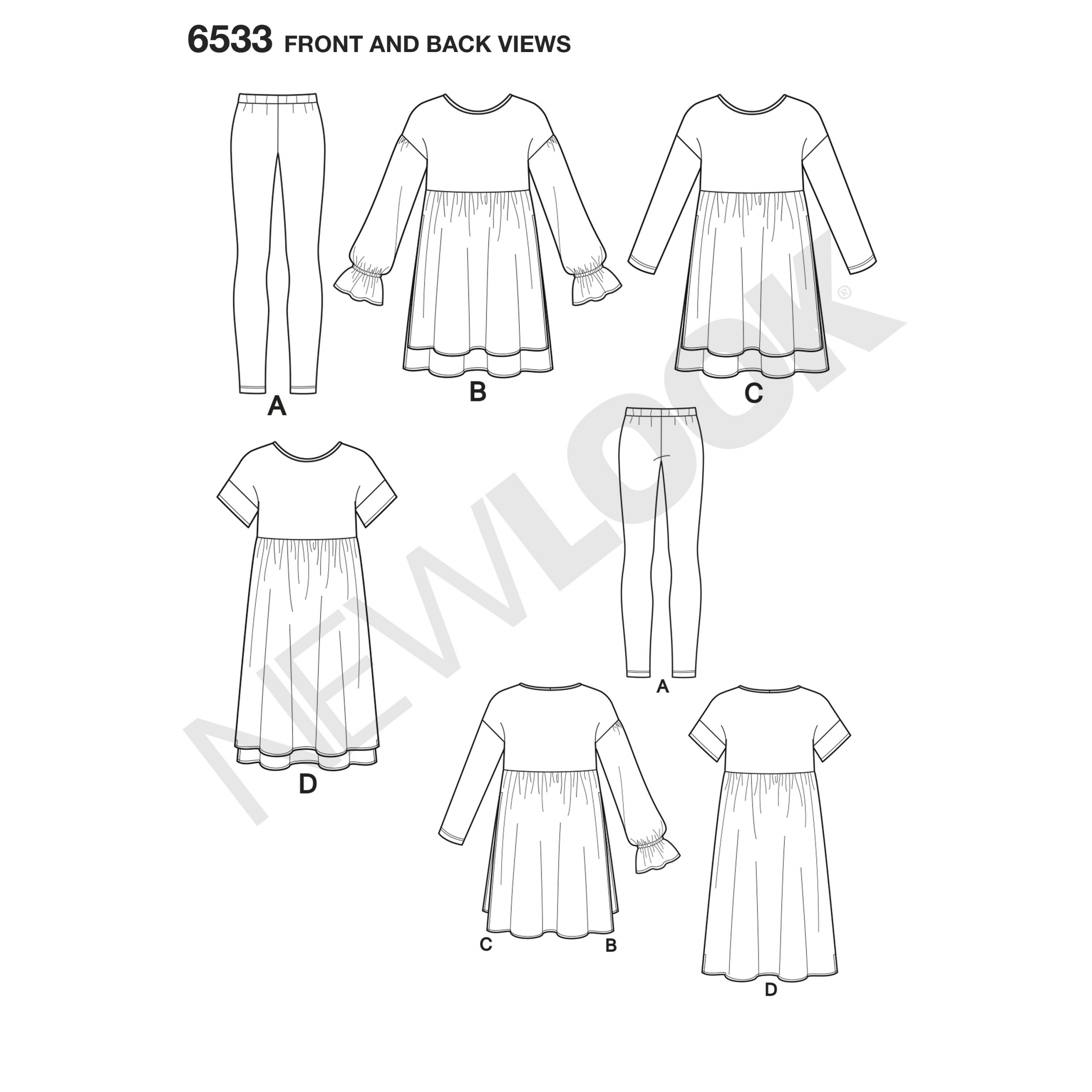 New Look Sewing Pattern 6533 Misses Pants Top Dress Size XS-XL