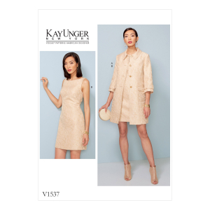 1205 Kay Unger Vogue Designer Sewing Pattern Dress OOP Size 8-14 New